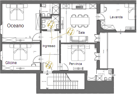 Camere chez moi firenze bed breakfast for Una casa con due camere da letto