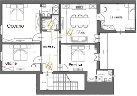Foto della struttura chez moi firenze bed breakfast for Planimetrie della casa mobile con una camera da letto